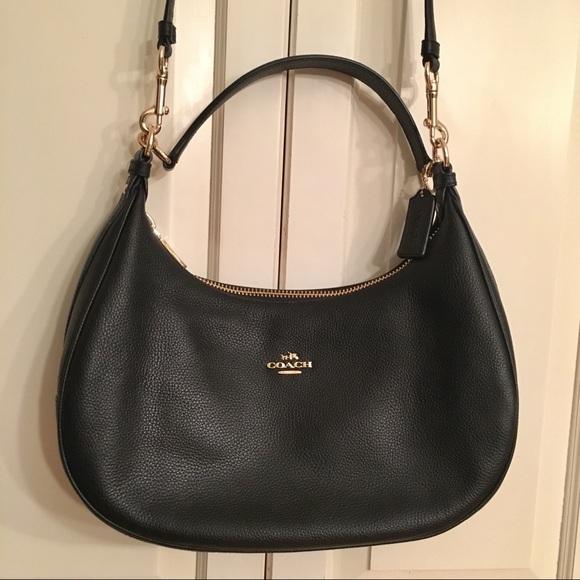 db9ec87997 Coach Handbags - Coach Harley East West Hobo Black Pebble Leather